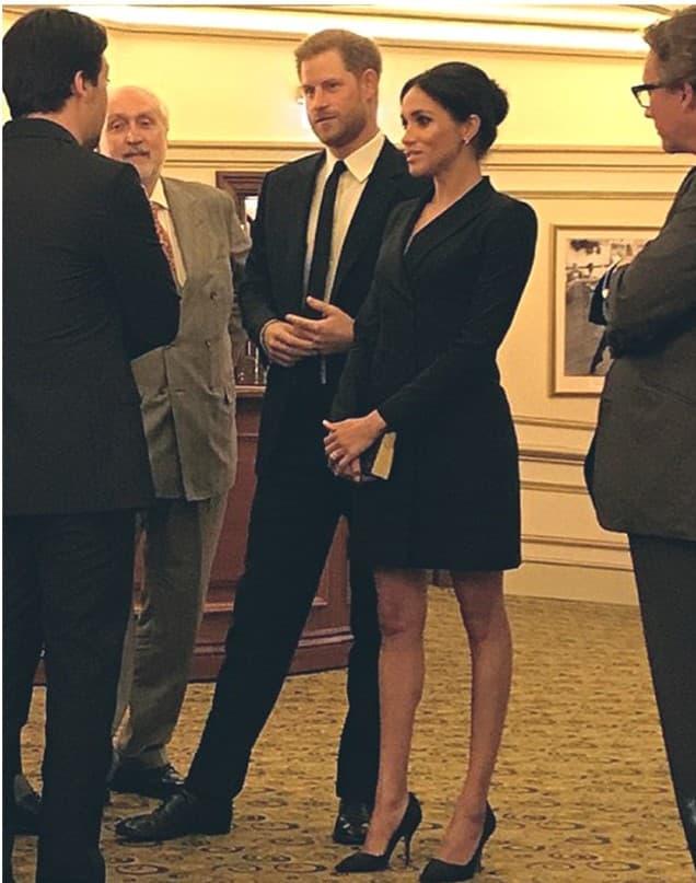Hort Judith & Charles Tuxedo Mini Dress