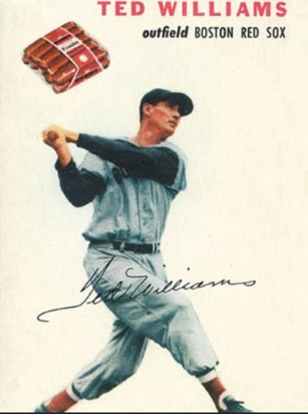 1954 Wilson Franks Ted Williams