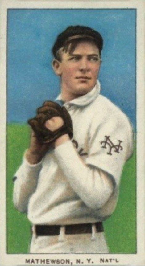 1909 11 T206 White Border Christy Mathewson (Dark Cap)