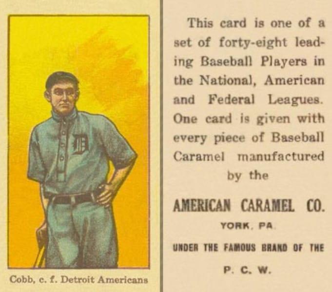 1915 American Caramel E106 Ty Cobb